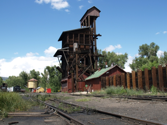 Railroad Relics - Cumbres & Toltec RR station in Chama, NM
